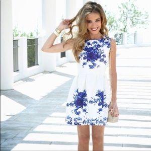 New Oasap Floral Skater Mini Dress A-Line NWT